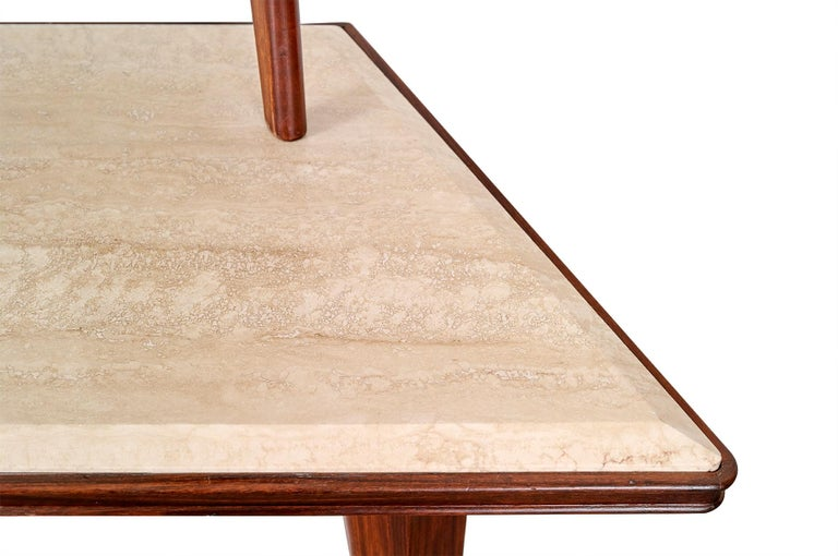 Mirror Console Rosewood and Travertine by Mobili Cantu, 1950 For Sale 3
