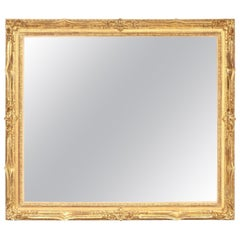 Mirror, Decorative, Antique Wall Mirror, circa 1950, Gold Leaf, Good Condition