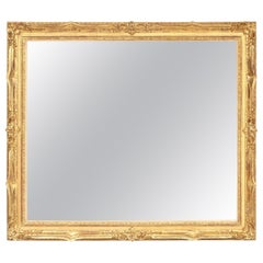 Mirror, Decorative, Antique Wall Mirror, circa 1950, Gold Leaf, Midcentury