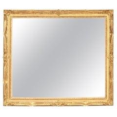 Mirror, Decorative, Antique Wall Mirror, circa 1950, Gold Leaf, Vintage