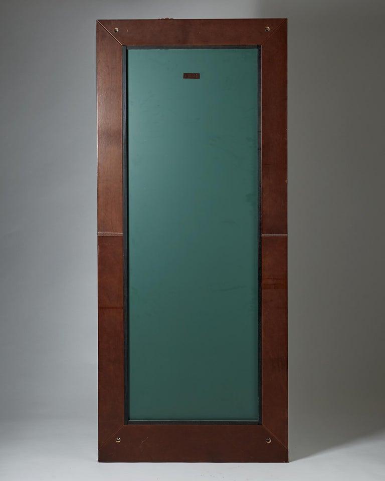 Swedish Mirror Designed by Enrico Tonucci for Triangolo, Italy, 1980s For Sale