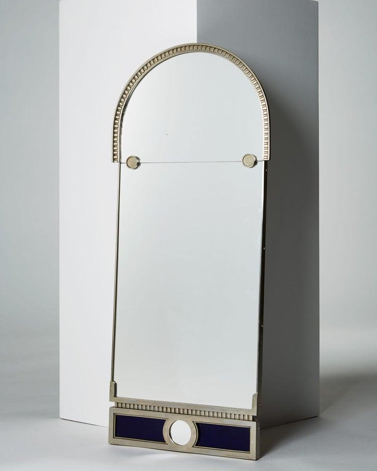 Scandinavian Modern Mirror Designed by Herman Bergman, Sweden, 1930s For Sale