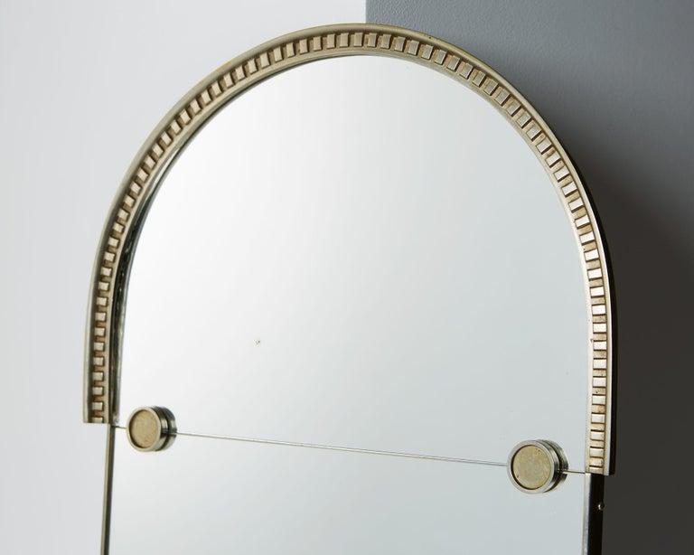 European Mirror Designed by Herman Bergman, Sweden, 1930s For Sale