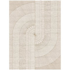 Mirror - Designer Contemporary Hand Knotted Wool Bamboo Silk Rug