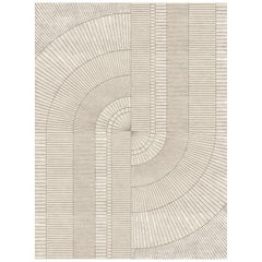 Mirror, Designer Contemporary Hand Knotted Wool Bamboo Silk Rug