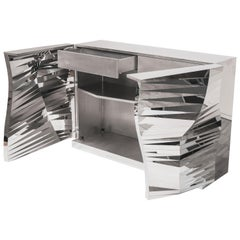 Mirror-Finished Stainless Steel Cabinet Mesh Obejct #MS-C01 by Zhoujie Zhang