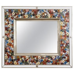Mirror Frame, German Silver 'Also Called Alpaca or White Metal' and Ceramic