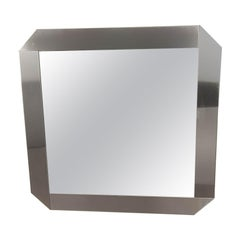 Mirror from Gaetano Sciolari, in Brushed Steel, by Valanti Luce, 1970