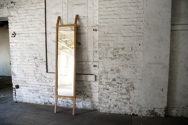 American Mirror, Full Length, Leaning, Modern, Bedroom, Hardwood, Rift, Wood, Semigood  For Sale