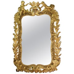 Mirror, Giltwood and Stucco, 19th Century