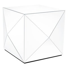 Mirror Glam Rock White Coffee Table