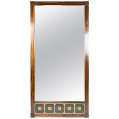 Mirror in Rosewood and Tiles of Danish Design from the 1960s