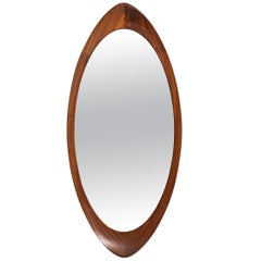 Mirror in teak produced by Glas & Trä Hovmantorp in Sweden