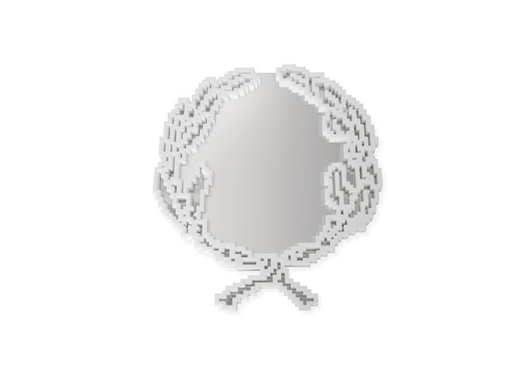 Modern Mirror in White Marble 'Small Version' Limited Ed. by Michelle Chiossi, Italy For Sale
