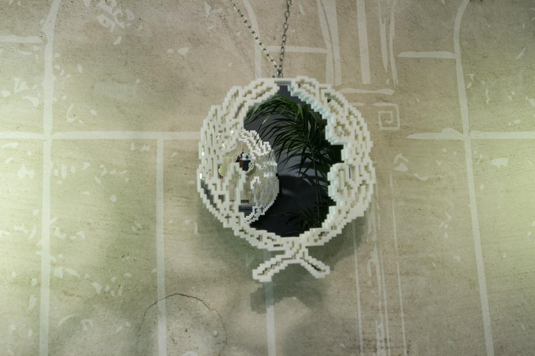 Mirror in White Marble 'Small Version' Limited Ed. by Michelle Chiossi, Italy In New Condition For Sale In Milan, IT