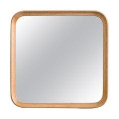 Mirror in Whitewashed Oak Produced by Fröseke, AB Nybrofabriken, Sweden, 1950s