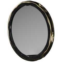 Mirror Inlaid in Shell with a Bronze-Patina Brass Frame by R&Y Augousti
