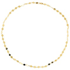 Mirror Link Chain 14K Yellow Gold Polished Gold Disk Link Chain Necklace, Custom
