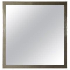 Mirror Luigi Caccia Dominioni Crystal Chromed Metal, 1960s