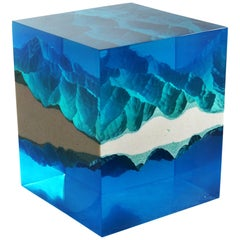 Mirror Mountains Contemporary Sculpture by Eduard Locota Acrylic Glass & Marble