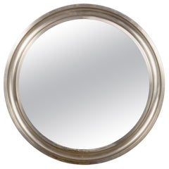 "Mirror ""Narciso"" by Sergio Mazza for Artemide Round Mirror, Metal Italy, 1960s"