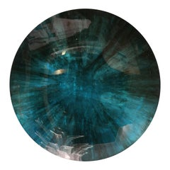 Mirror Object by Christophe Gaignon, Blue Green Color