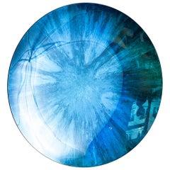 Spiegelobjekt von Christophe Gaignon, Blaugrün