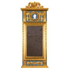 Mirror of Late Gustavian Stockholm Work, with Stockholm Hallmark, 18th Century