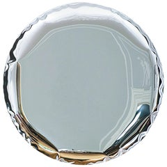 Mirror 'OKO 120' in Stainless Steel by Zieta
