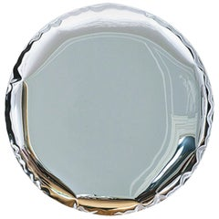 Mirror 'OKO 150' in Stainless Steel by Zieta