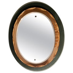 Mirror Oval Shaped Attributed to Max Ingrand for Fontana Arte, 1960s