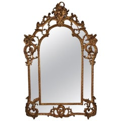Mirror Parclose Rococo Louis XV Style French Carved Gilded