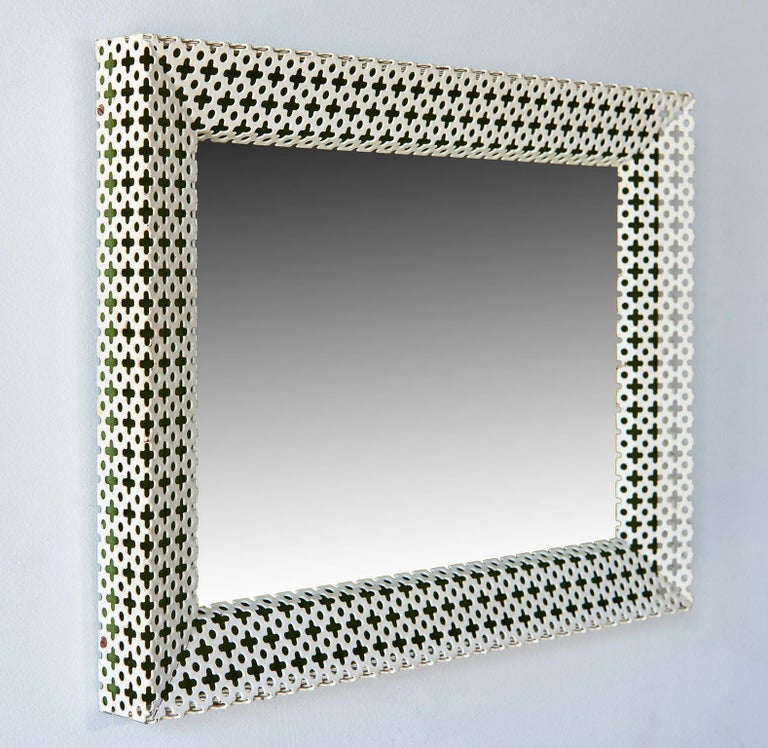 Enameled Mirror or Picture-Frame by Mathieu Matégot For Sale