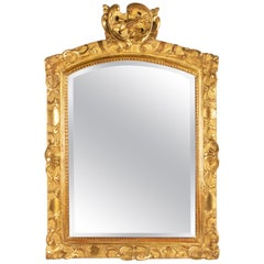 Mirror Regency Period, Antiquity From The Eighteenth Century Carved And Gilded