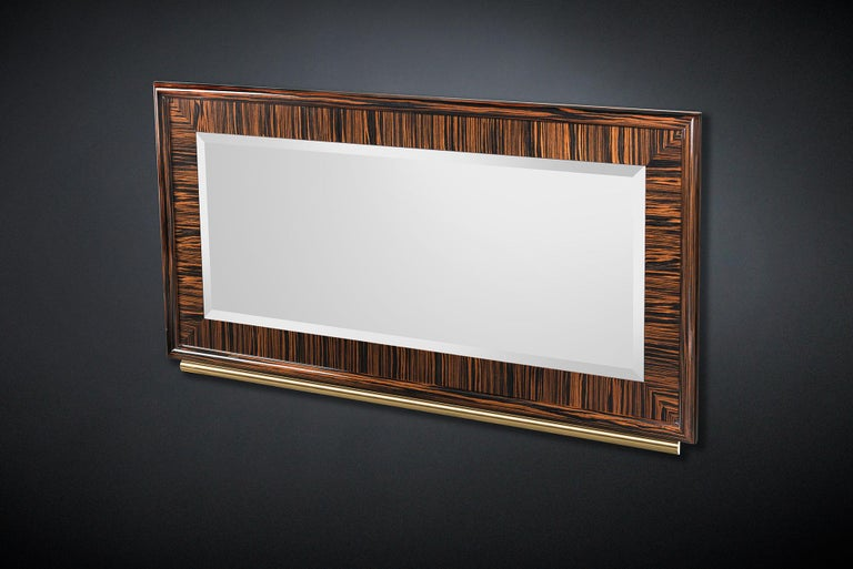 Modern Mirror Secret in Ebony and Galvanized Metal, Original Sin Collection, Italy For Sale