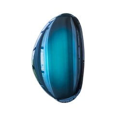 Mirror Tafla O2 Deep Space Blue, in Polished Stainless Steel by Zieta
