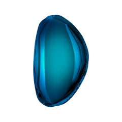 Mirror Tafla O3 Deep Space Blue, in Polished Stainless Steel by Zieta