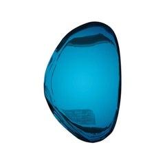 Mirror 'Tafla O3', Stainless Steel by Zieta Prozessdesign, Deep Space Blue