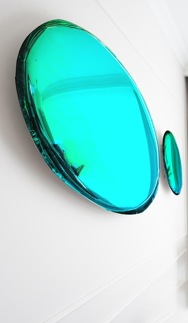Post-Modern Mirror 'Tafla O4', Stainless Steel by Zieta Prozessdesign, Gradient Collection For Sale