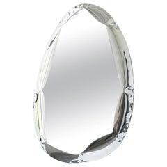 Mirror 'Tafla O4.5' in Stainless Steel by Zieta