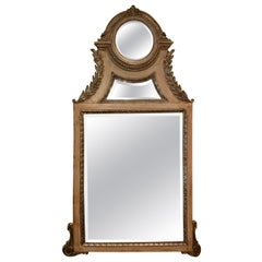 Mirror with Architectural Elements and Bevel Glass