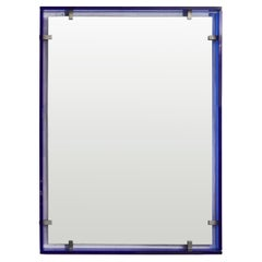 Mirror with Cobalt Blue Surround Designed by Max Ingrand for Fontana Arte