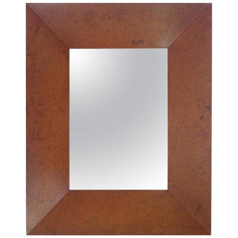 Mirror with Deep Well Carpathian Elm Burl Frame, Designed by Edward Wormley For Sale