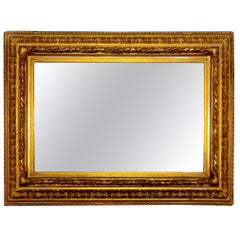 Mirror with Gold Leaf Frame Empire Style Denmark, End of the 1800