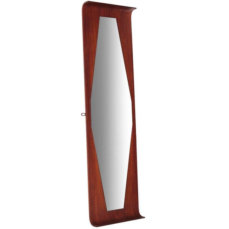 Danish Modern Rosewood Octagonal Mirror For Sale At 1stdibs