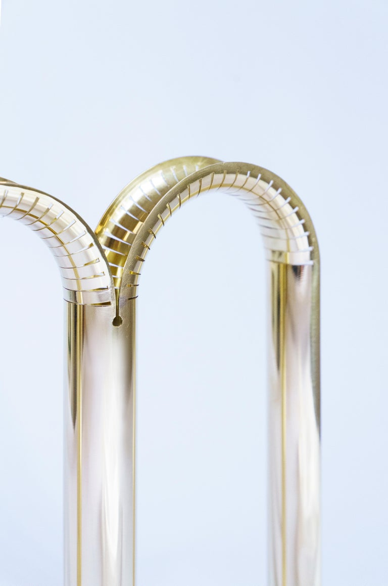 Hand-Carved Mirrored Brass