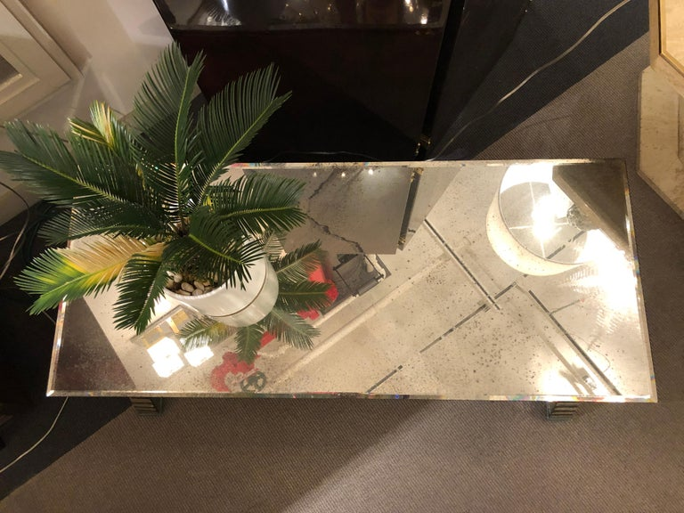Mirrored Coffee Table, France, 1970's For Sale 6