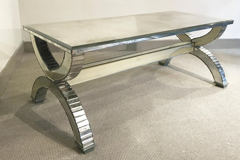 Mirrored Coffee Table, France, 1970's For Sale 1
