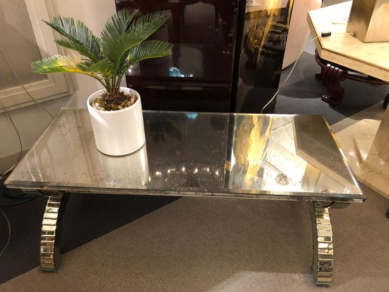 Mirrored Coffee Table, France, 1970's For Sale 3