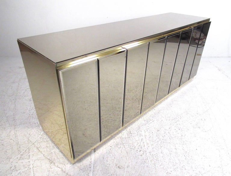 Mirrored Credenza Cabinet in the Style of Ello For Sale 1